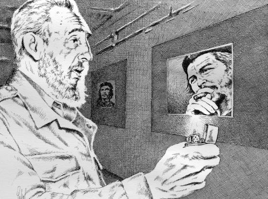 Fidel Castro, Che Guevara par Pastis